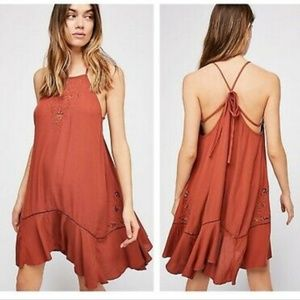 NWT FREE PEOPLE Terracotta Heat Wave Tunic Dress